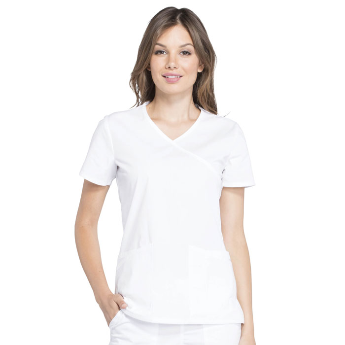 Cherokee-Professionals-Ladies-V-Neck-Mock-Wrap-Top