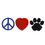 Peace, Love, Paw - 1 3/16 X 3 7/8