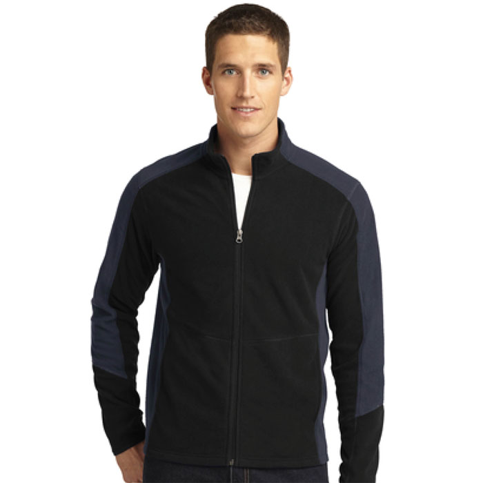 Port Authority, F230, Mens Colorblock Microfleece Jacket