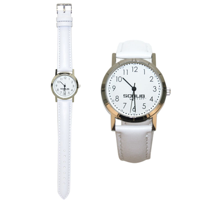 Scrub-Stuff-SS08002-White-Leather-Nurse-Watch