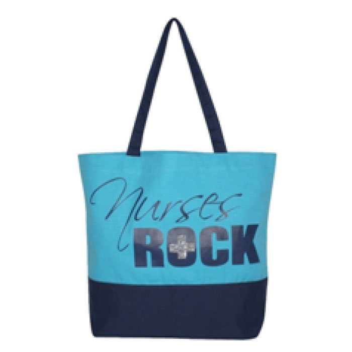 Scrub-Stuff-SS13003BLU-Nurses-Rock-Canvas-Tote-Bag-Blue
