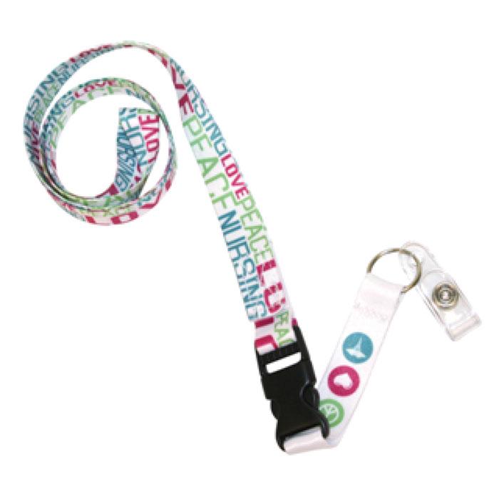 Scrub-Stuff-SS05002-Cool-Colors-Peace-Love-Nursing-Lanyard