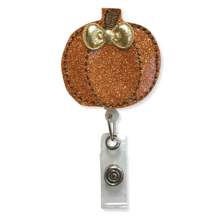 PUMPKIN-1068-ID-Badge-Holder-Pumpkin